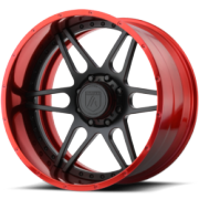 Asanti Offroad AB-200 Red and Black Wheels