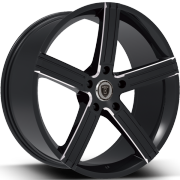 Borghini BW39A Black Machined Wheels
