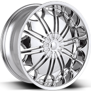 Borghini B706 Chrome Wheels