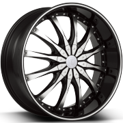 Borghini BW8 Machine Black Wheels