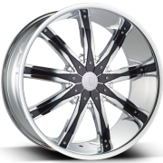 Borghini BW9 Chrome Wheels with Black Inserts