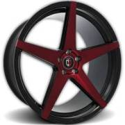 Curva Concepts Wheels C-55 Red and Black