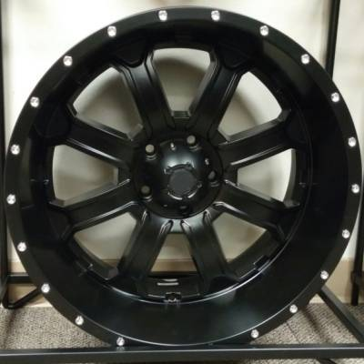 Full Throttle Off-Road 8034 Matte Black Wheels