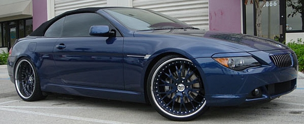Custom Blue Donz Luchese on 2006 BMW 6 Series