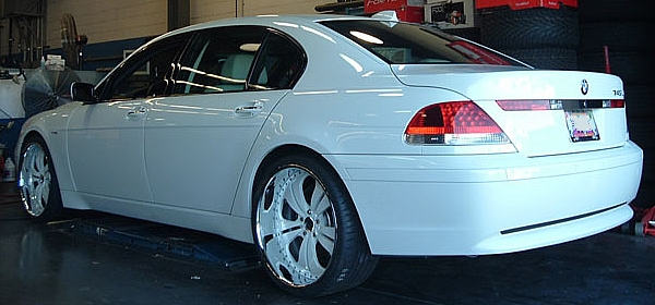 Bmw 745 Rims. white do you call a car that