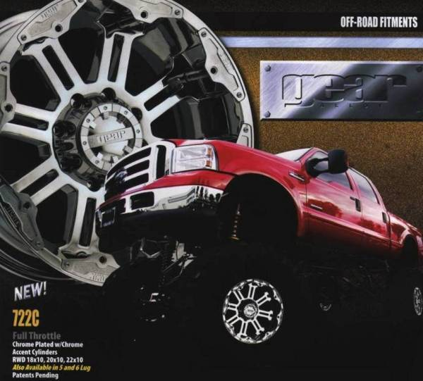 GEAR ALLOYS WHEELS for Off-Road Trucks