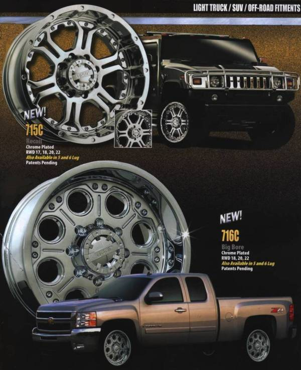Gear Alloy Wheels for Light Trucks and SUVs