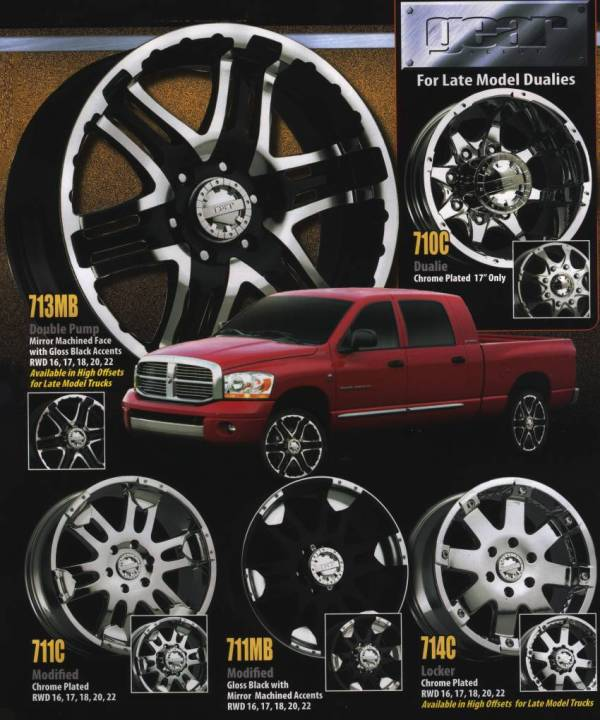 Gear Alloy Wheels for Late Model Dualies