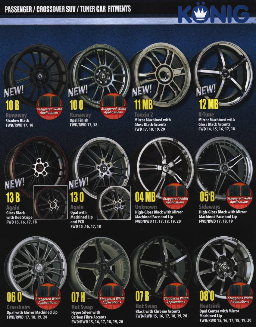 KONIG WHEELS 2008