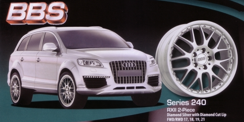BBS Series 240 RXII 2-Piece Diamond Silver on Q7