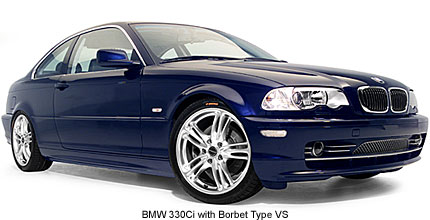 BMW 330ci with Borbet Type VS