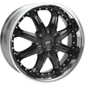 Octane (Series 350) 1-piece black painted alloy