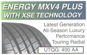 MICHELIN ENERGY MXV4 PLUS WITH XSE TECHNOLOGY