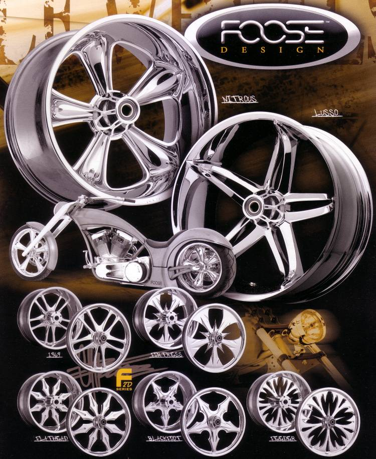 FOOSE DESIGN MOTORCYCLE WHEELS