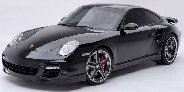 GFG Forged Modular Black Nice-5 Wheels on Porsche