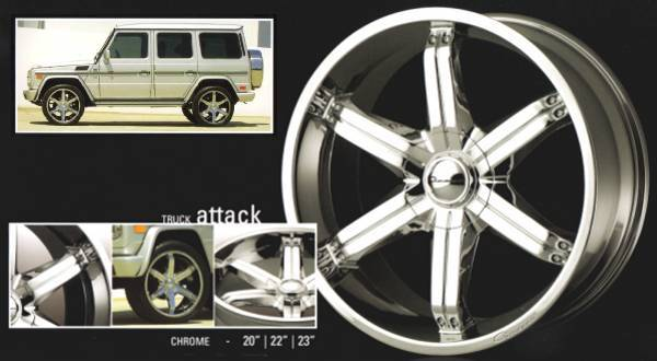 23 in. Giovanna Anzio Truck Wheels 6-Lug $1899 set