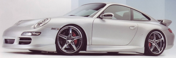 Maya MRS 20 inch Anthracite on Porsche 997