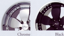 Maya MT1 chrome and black finish