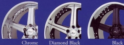 Maya RT5 Chrome, Diamond / Blackand Black