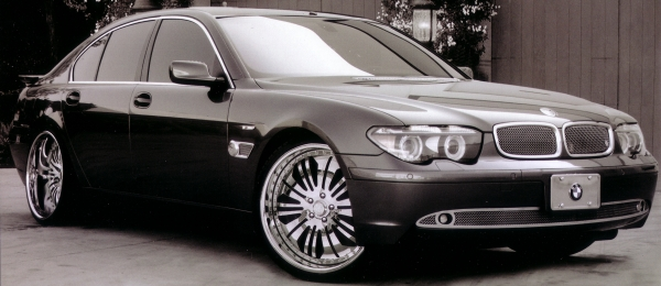 2005 BMW 745IL WITH 22 inch P.MILLER PM505