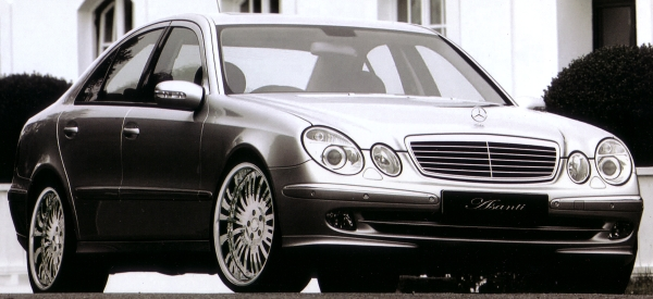 2005 MERCEDES BENZ E500 ON 20 inch P.MILLER PM506