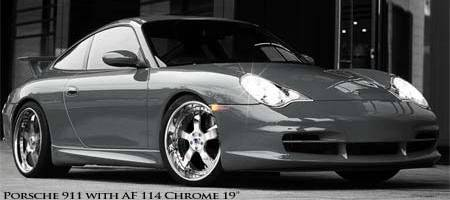 Porsche 911 with Asanti AF114 Chrome 19