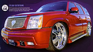 Shaquille O'Neal's 2003 Escalade on 24 inc