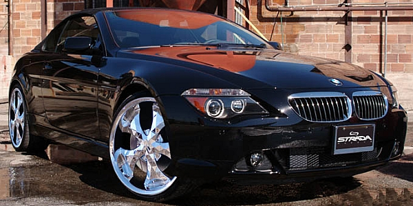 BMW 6 Series on Strada Diamante Chrome Wheels