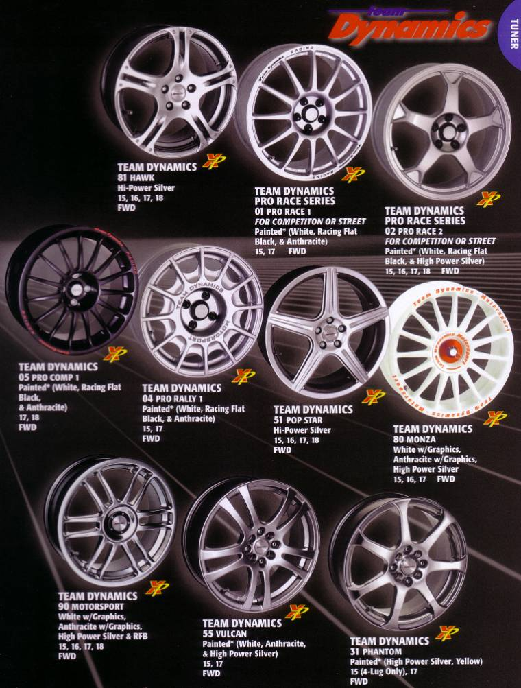 Team Dynamics Tuner Alloy Wheels