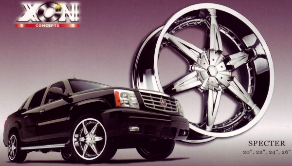 Xon Concepts Specter Chrome Wheels for Escalades