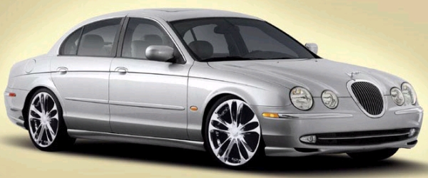 Zinik Z5 Ikeda Chrome Wheels on Jaguar S-Type