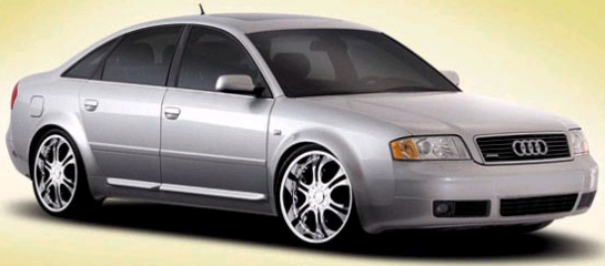 Zinik Z9 Sabini Chrome Alloy Wheels on Audi A6