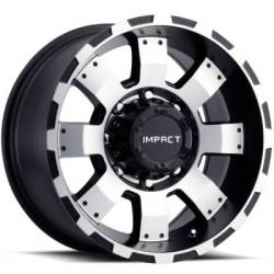 Impact Wheels Destroyer Black with Machined Face