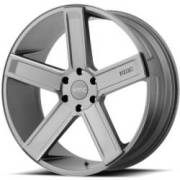 KMC KM702 Satin Gray Milled Wheels
