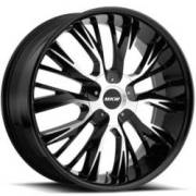 MKW M122 Black Machined Wheels