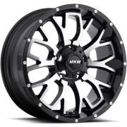 MKW M95 Machine Satin Black Wheels