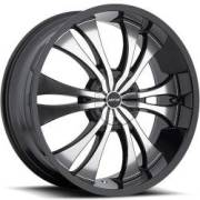 MKW M114 Black Machined Wheels