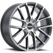 MKW M123 Grey Machined Wheels