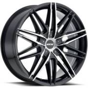 MKW M124 Black Machined Wheels