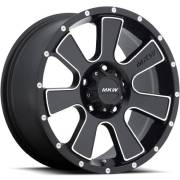 MKW M90 Satin Black Machined Wheels
