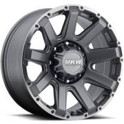 MKW M94 Gray Machined Wheels