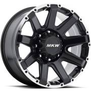 MKW M94 Satin Black Machined Wheels